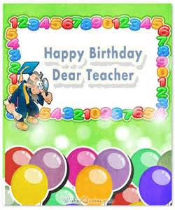 birthday cards for teachers best 25 birthday wishes to ideas on