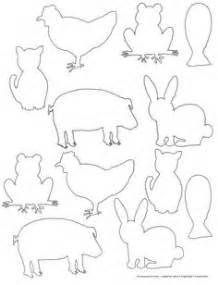Free printable farm animal silhouette templates fun for kids to color