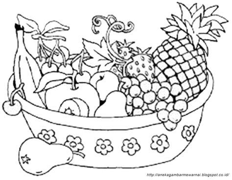 Lukisan Bunga Buah gambar mewarnai buah buahan dalam keranjang untuk anak