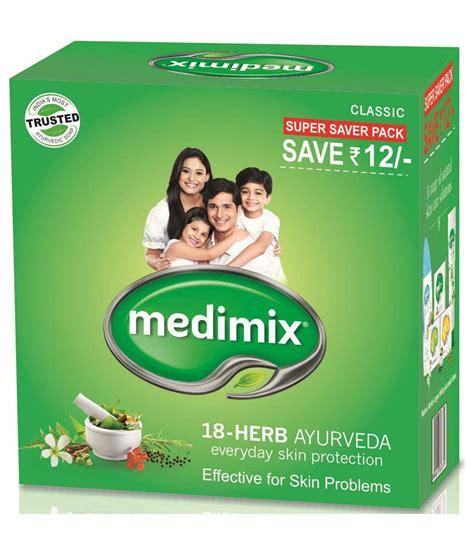 Sabun Medimix Ayurvedic Bath Soap 18 Herbs medimix classic ayurvedic 18 herbs soap 3 125 gm offer pack buy medimix classic ayurvedic 18