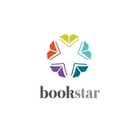 design logo book book star logo design gallery inspiration logomix
