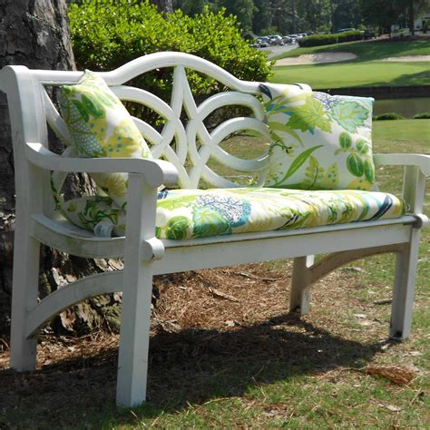 outdoor bench pillows bench set two outdoor pillows and 45 in bench cushion