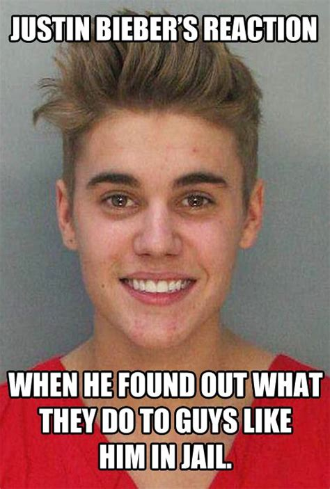 Mugshot Meme - the real reason why justin bieber is smiling in his