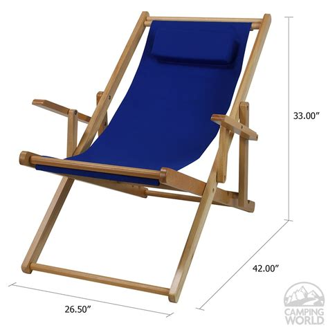 canvas patio sling chair blue ebay