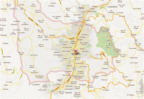 medellin map medellin map and medellin satellite image
