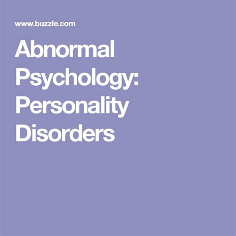 Abnormalpsych Personality | 78 best images about nursing on pinterest disorders