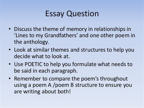 The Awakening Essay Topics by Memory Essay Questions
