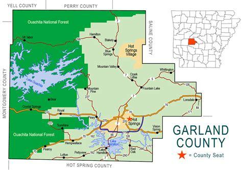 map of garland garland county map encyclopedia of arkansas