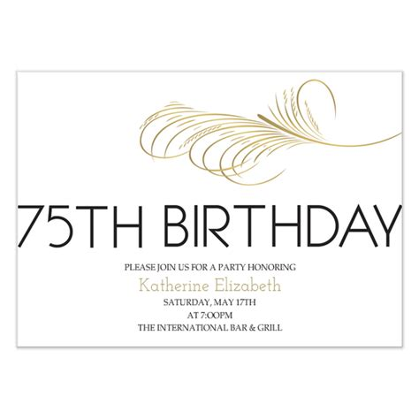 75th birthday invitation templates 75th birthday invitation invitations cards on pingg
