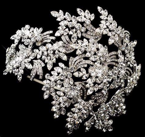Luxury Sparkling Silver Plated Austrian Princess Tiara luxury headbands silver leaf wedding