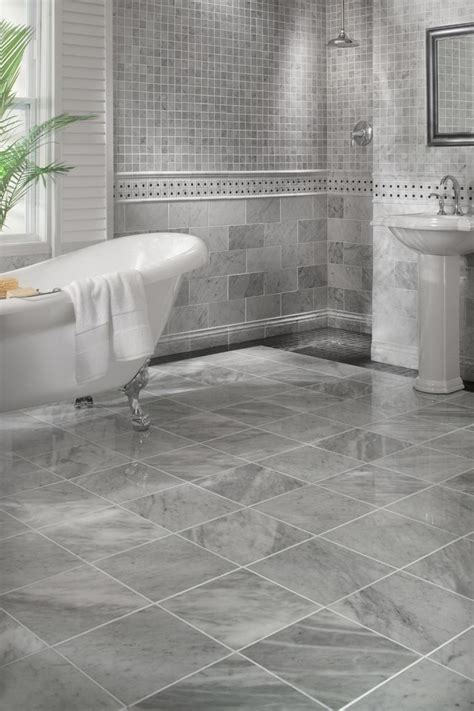 Amazing Carrara Marble Tile with Handshower White and