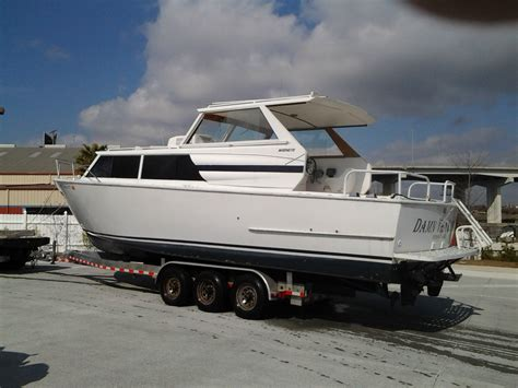 used all welded aluminum boats for sale 32 marinette all welded aluminum express cruiser with