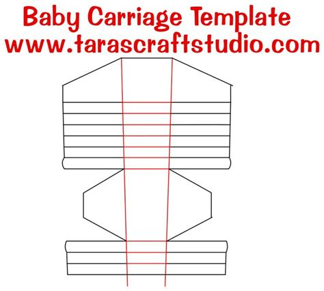 paper studio note card template baby carriage with cutting file tara s craft studio
