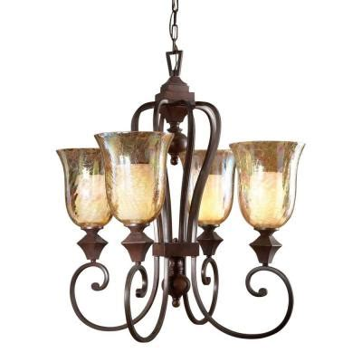 Global Direct 4 Light Bronze Candle Chandelier 21050 The Candle Chandelier Home Depot