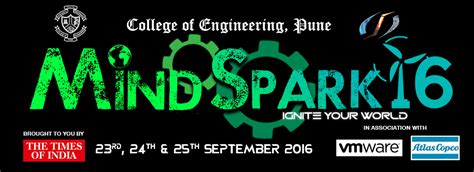 themes for college technical fest mindspark 16 college of engineering pune