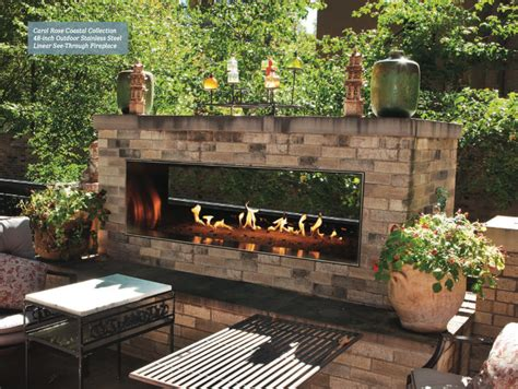 linear outdoor fireplace empire vent free fireplaces