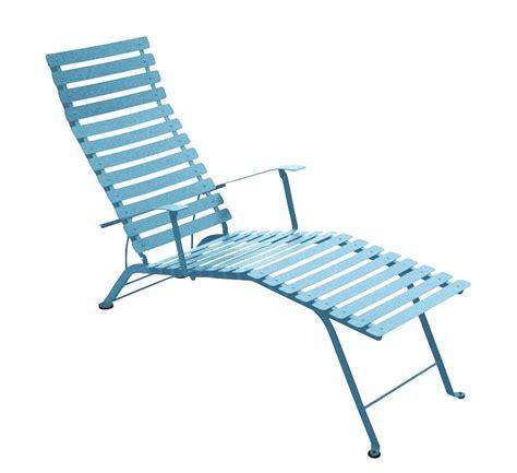chaise longue fermob chaise longue pliante bistro de fermob bleu turquoise