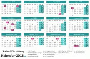 Kalender 2018 Thüringen Mit Feiertagen Kalender 2018 Baden W 252 Rttemberg