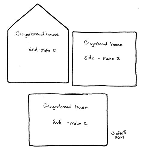 simple gingerbread house template printable gingerbread house template printable search results