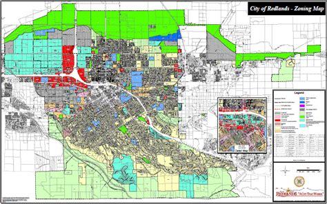 san bernardino zoning map zoning city of redlands