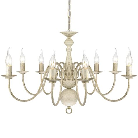 antique white metal mini chandelier antique white metal chandelier 8 x e14 bulbs www vidaxl au