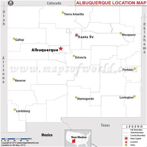albuquerque map usa where is albuquerque located in new mexico usa