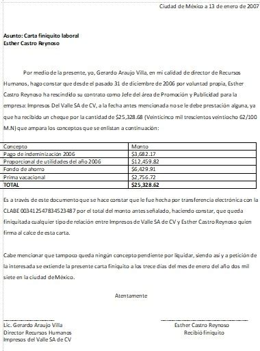carta de finiquito carta finiquito gt formatos y ejemplos milformatos com