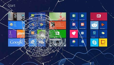 wallpaper hp pecah show your support of windows 8 with this cracked screen