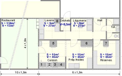 plan de cuisine centrale un exemple de la conception de la ventilation d une