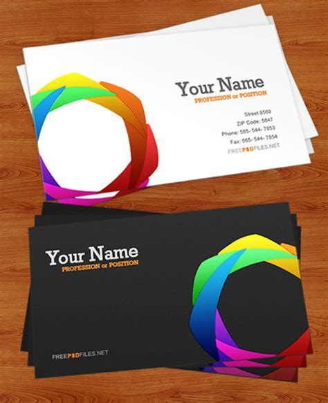 business card template photoshop psd 20 free photoshop business card templates