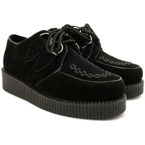 new womens flat lace up creeper platform shoes size ebay