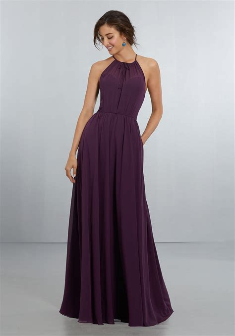 Bridesmaid Gown by Chiffon Bridesmaids Dress With Softly Draped