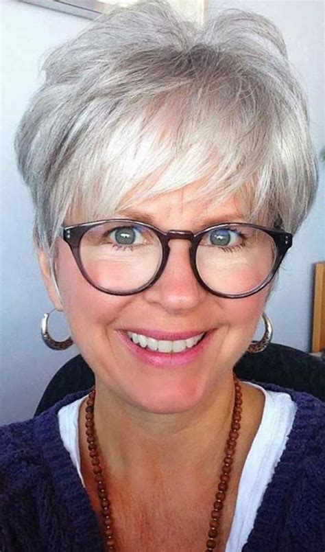 short haircuts for women over 60 with glasses hair cuts