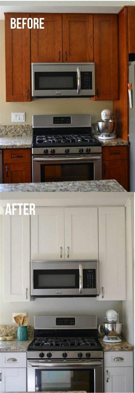 küchenfronten streichen vorher nachher rot grau schwarz streichen