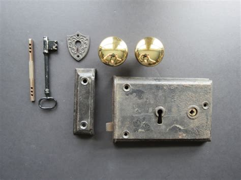 vintage door hardware set reproduction antique style