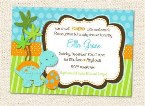 Dinosaur Baby Shower Invitations Dinosaur Baby Shower Invitation Template