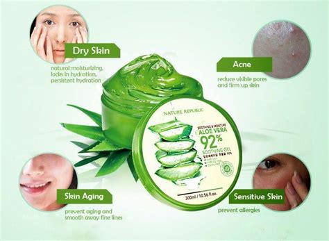 Nature Republic Aloe Vera Soothing Gel For Acne nature republic moisture aloe vera 92 end 4 6 2020 2 44 am