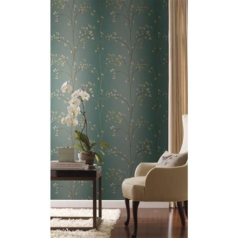 york wallcovering blue book vertical blossoms wallpaper br
