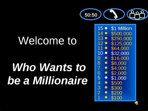 Who Wants To Be A Millionaire Game Template Turbobitir Millionaire Template Powerpoint
