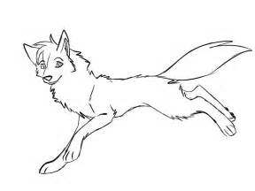 free anime wolf color coloring pages