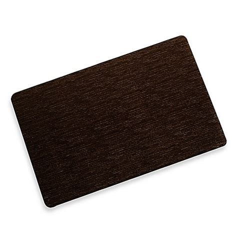 Bungalow Flooring Microfibres Kitchen Rug Buy Bungalow Flooring Microfibre Neoprene 23 Inch X 36 Inch Rug In Miller Brown From Bed Bath