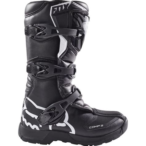 youth motorcycle boots new fox racing 2017 mx kids comp 3 black dirt bike youth