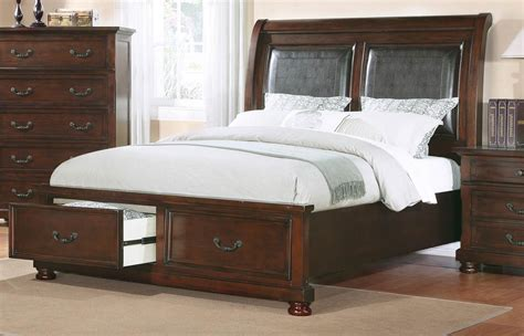 hannah bed coaster hannah 200830 bed dark cherry 200830 bed at