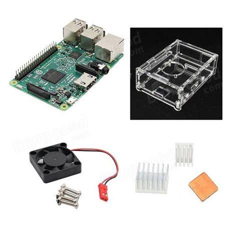 Acrylic For Raspberry Pi 3 Model B Y2012 4 in 1 raspberry pi 3 model b v31 acrylic pi fan aluminum heat sink set sale