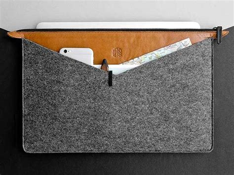 Handmade Laptop Sleeve - handmade universal folder wool felt laptop sleeve with