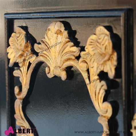 comodino barocco comodino zurigo nero decoraz oro 45x65xh67