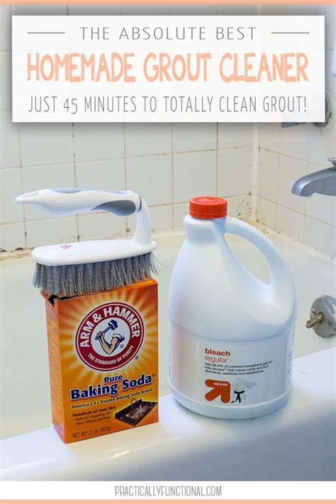 how to clean bathroom tiles with baking soda how to clean grout with a homemade grout cleaner
