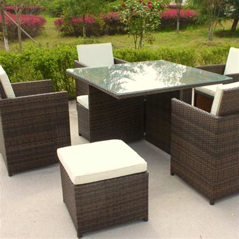 cube patio furniture oseasons cube rattan 8 seater 127cm square patio set on sale