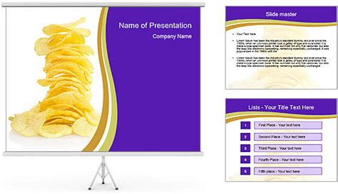 chip template crispy potato chips powerpoint template backgrounds id