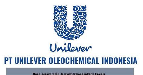 email unilever indonesia penerimaan calon pegawai pt unilever oleochemical